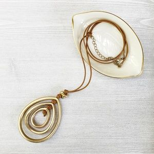 Knotted Layered Teardrop Necklace